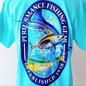 🆕 Columbia Performance Deep Sea Fishing T-Shirt
